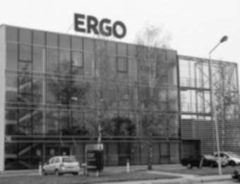"Aluminum channel letters ""ERGO"""