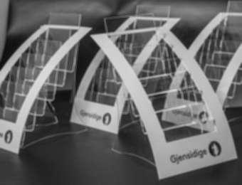 """Plastic display for """"Gjensidige"""""""