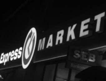"Retail chain advertising""Express market"""